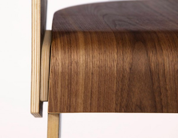 Scandinavian inspired veneer cantilevered chair